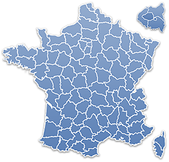 Carte des dpartements de France